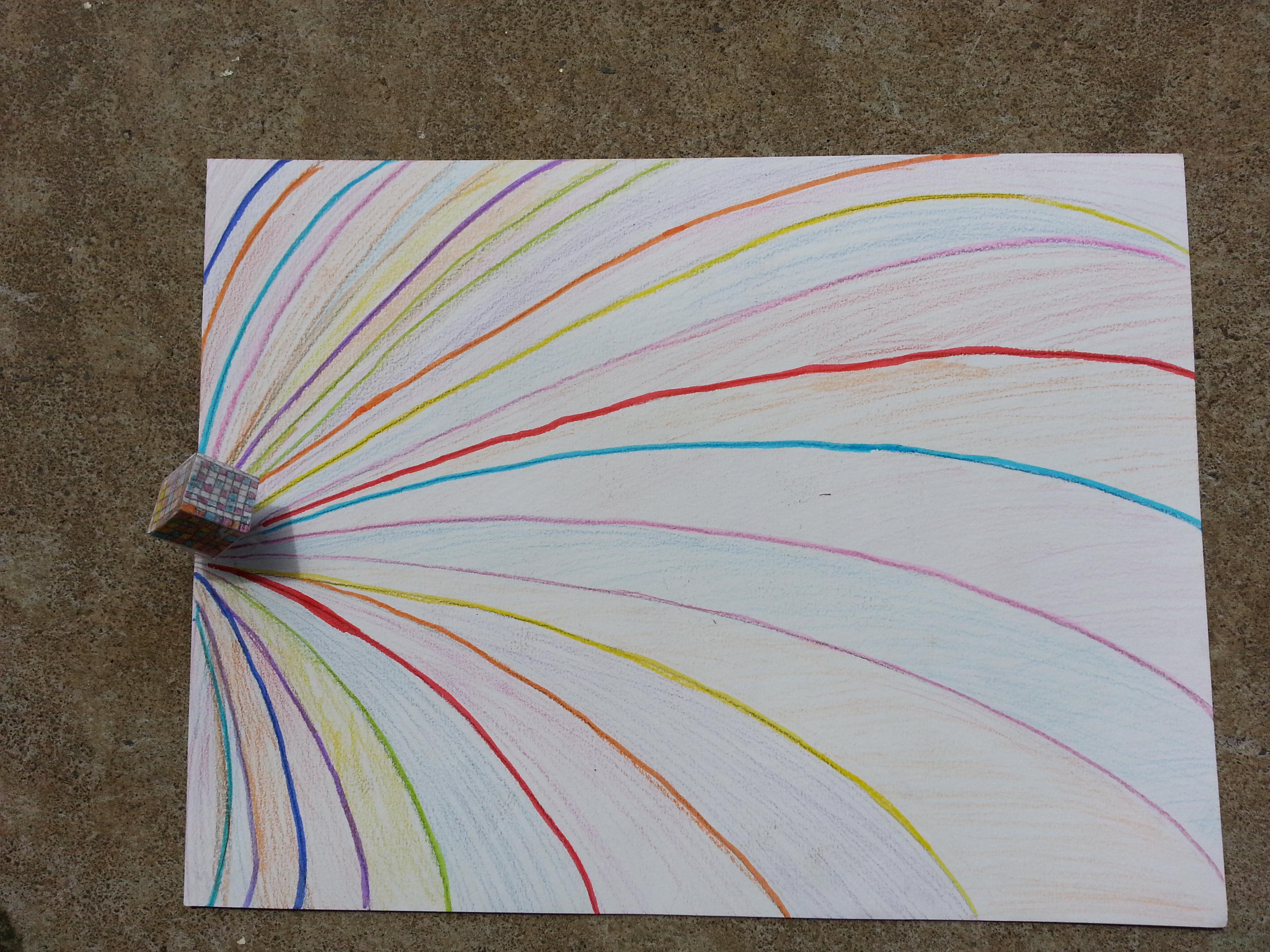 3 me un cube jaillit de ma feuille arts plastiques - Comment faire un graphique sur papier ...
