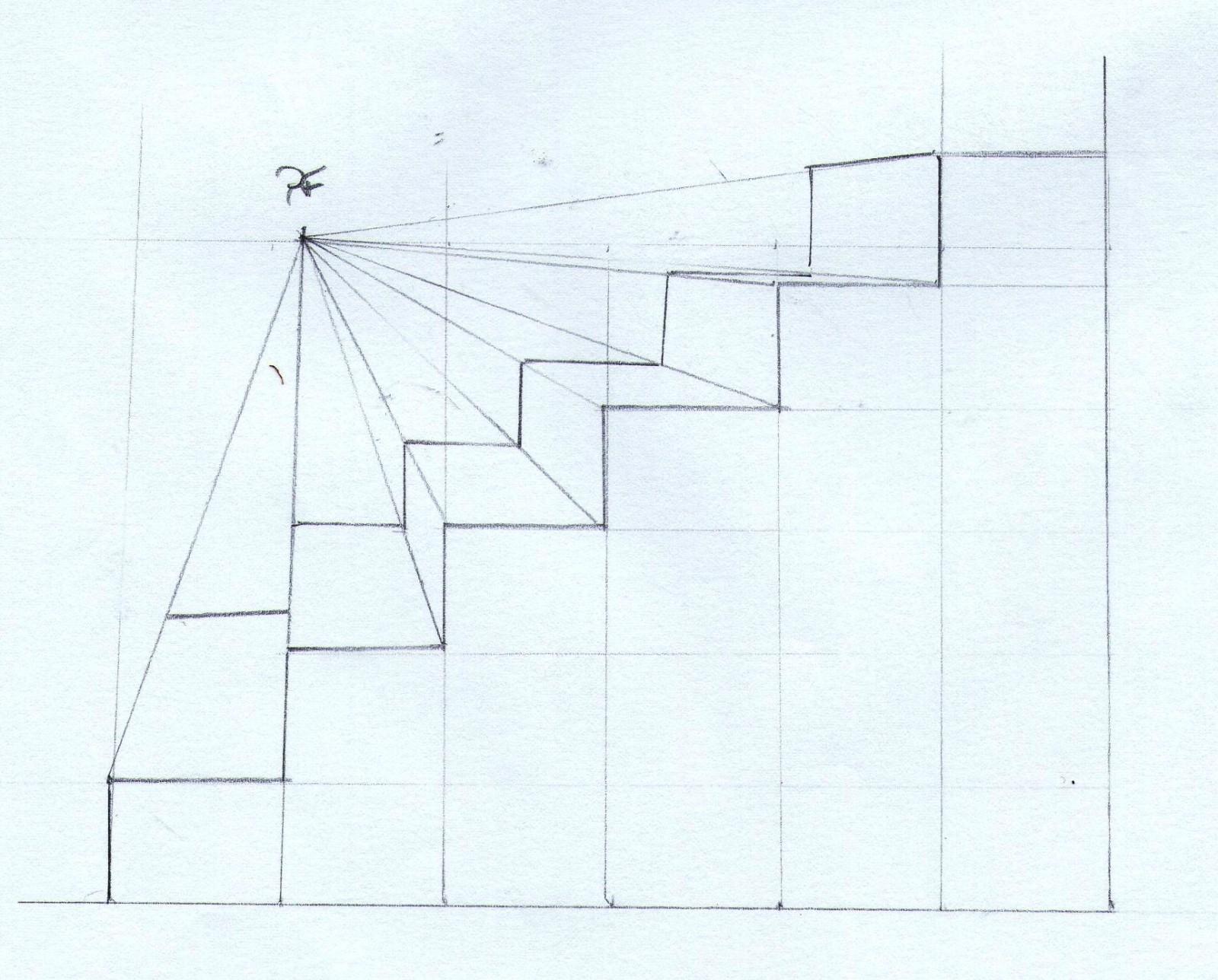 L escalier bande dessin e 5 me arts plastiques - Dessiner un meuble en perspective ...