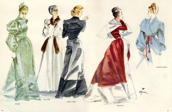 25987-bruyere-nina-ricci-robert-piguet-balenciaga-marcelle-dormoy-1946-rene-gruau-hprints-com