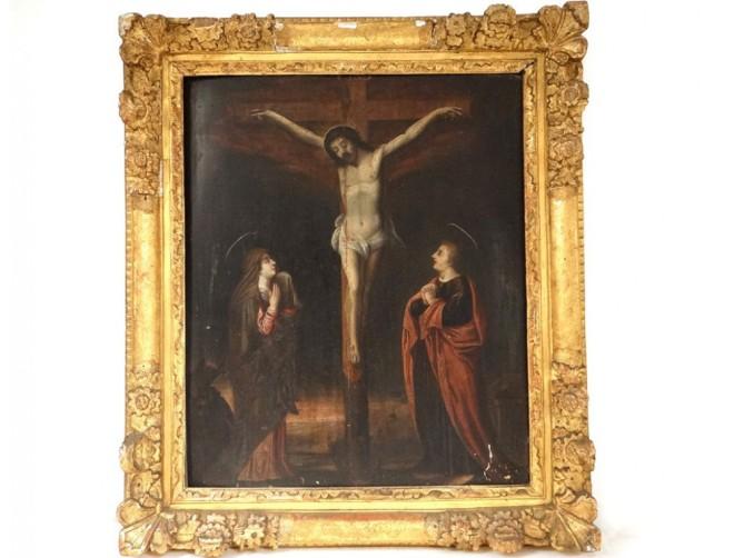 hsp-tableau-religieux-christ-crucifix-calvaire-vierge-marie-madeleine-xviie