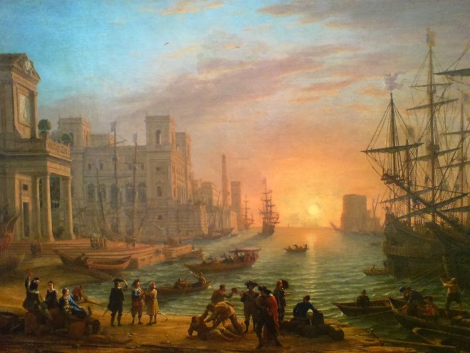 Lorrain Claude - Port de mer au soleil couchant - 1639