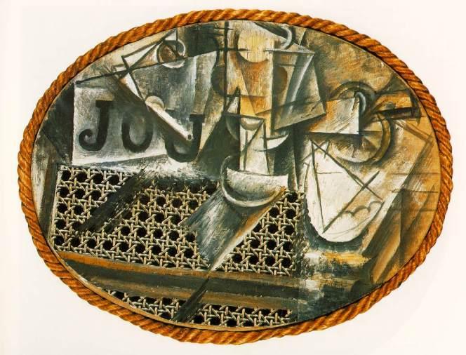 Picasso Nature morte à la chaise cannée. Summer 1912. 29 x 3