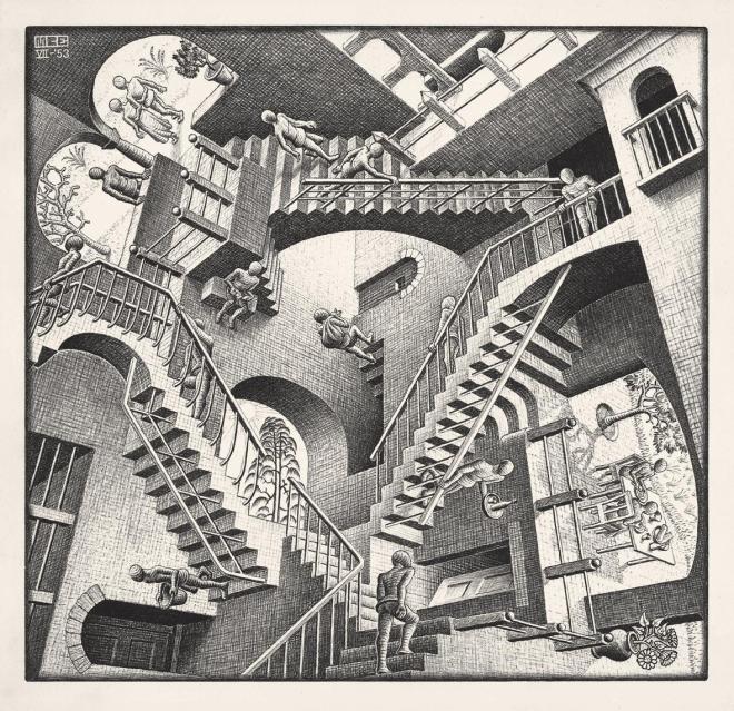 389-Relativity-1953-Lithographm