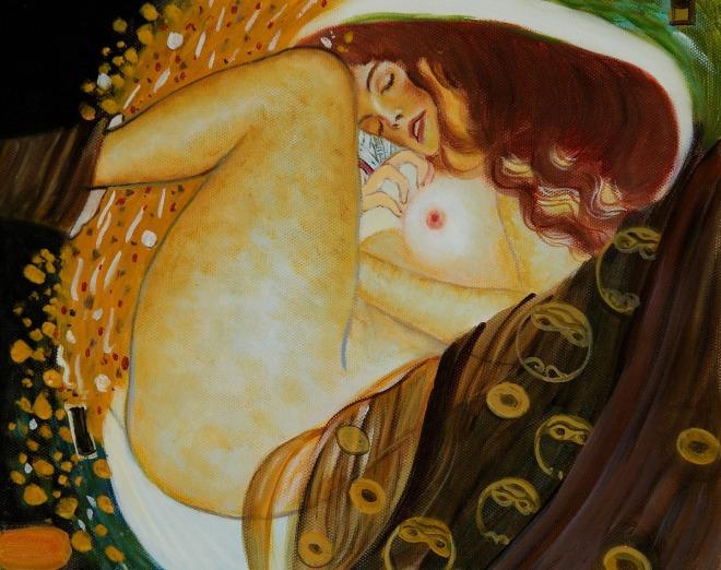 Danae by Gustav Klimt OSA190