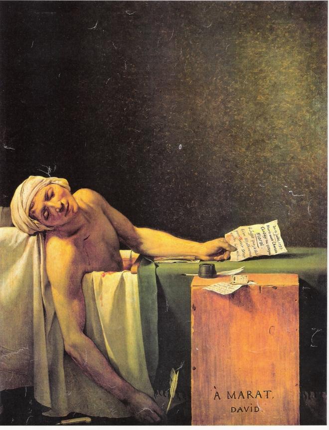 DAVID Marat mort 1793