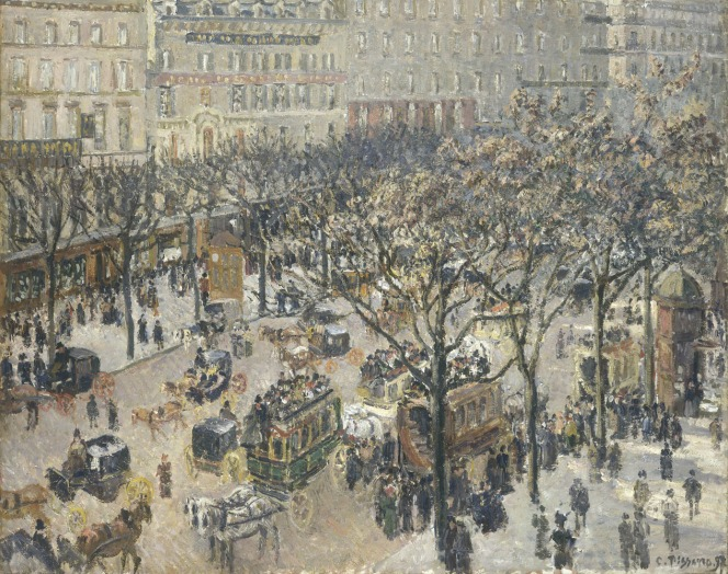 Camille Pissarro, Boulevard des Italiens, Morning, Sunlight, French, 1830 - 1903, 1897, oil on canvas, Chester Dale Collection