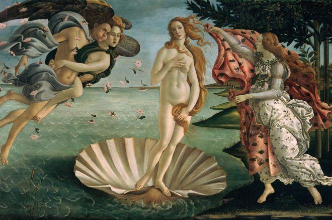 Naissance de Venus, Botticelli, 1484