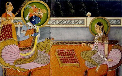 krishna-and-radha-playing-chaturanga