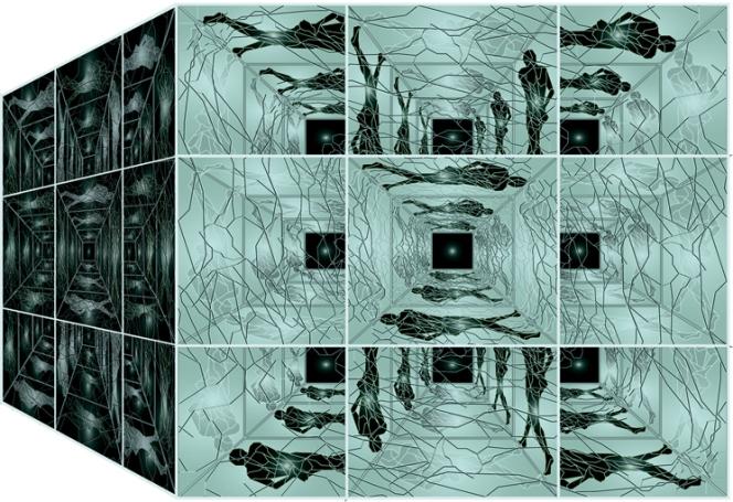 « Le Cube » - impression numérique sous plexiglas - 90 cm x 120cm - 2003